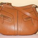 STONE MOUNTAIN - Light BROWN Faux Leather Shoulder Handbag Hobo Adjustable Strap