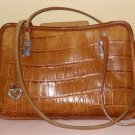 Medium Sz BRIGHTON - ALLIGATOR EMBOSSED LEATHER PURSE HANDBAG SHOULDERBAG