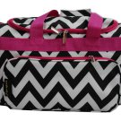 Black & White Chevron Weekender -20""