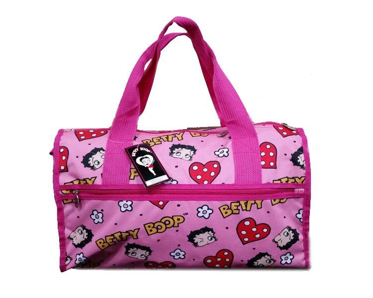 "Betty Boops Pink Duffel Bag - 19"""