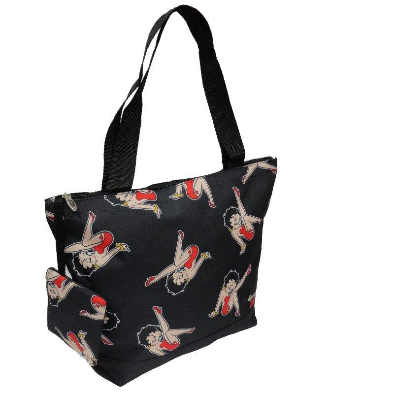 "Betty Boop Black Shopping Bag - 17"""