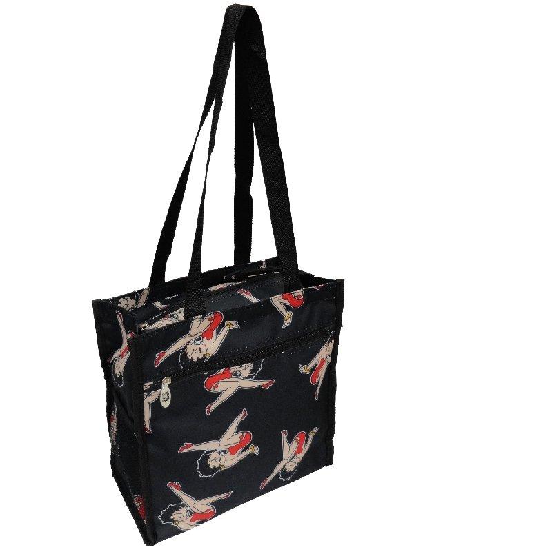 """Betty Boop Black Tote Bag - 12"""""""
