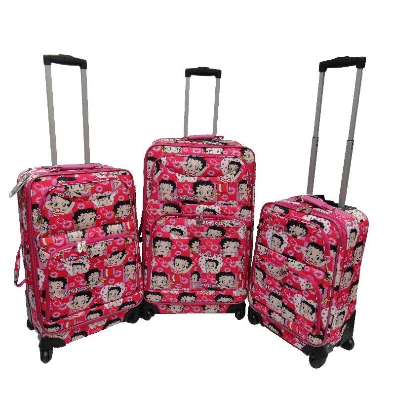 "Betty Boop 4 Wheels Spinner Luggage- 19"",23"",27"""