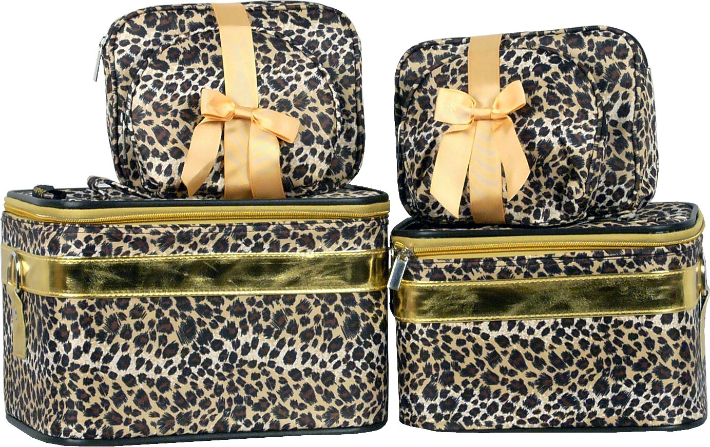 Leopard Cosmetic Case - 6 Pc Set