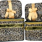 Leopard Cosmetic Case - 6 Pc Set