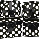 Big White Polka Dots Cosmetic Case - 6 Pc