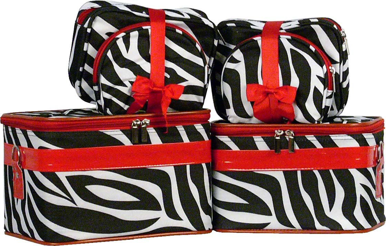 Zebra Cosmetic Case - 6 Pc