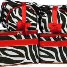 Zebra Cosmetic Case - 6 Pc