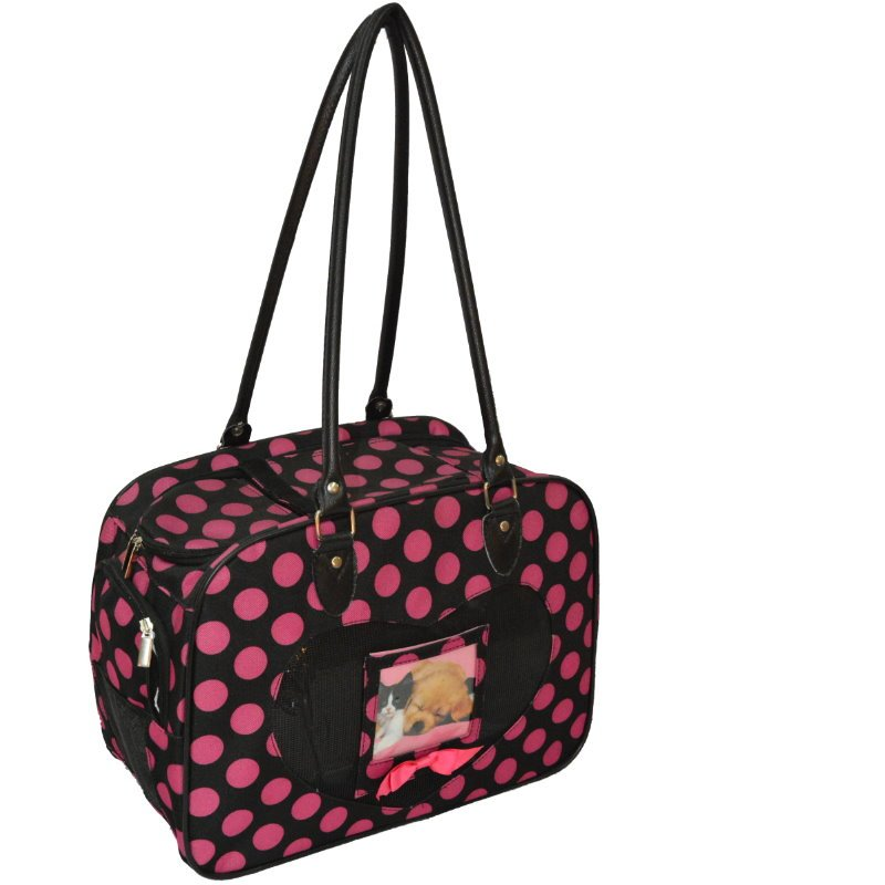 Pink Polka Dots Pet Carrier