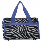 Zebra Purple Trim Duffel Bag - 19""