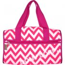 Chevron Fuchsia Duffel Bag - 19""