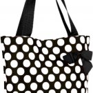 White Polka Dots Shopping Bag - 17""