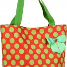 Green Polka Dot Shopping Bag - 17""