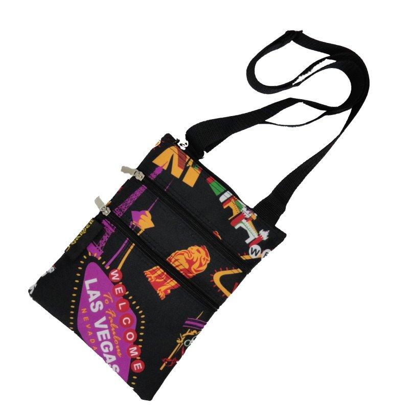 "Las Vegas Theme Passport 3 Zippers Bag - 10"""