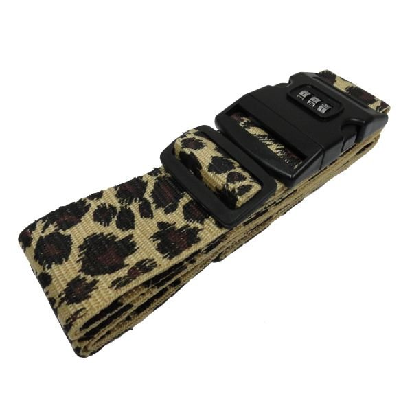 Luggage Strap w/ Lock Buckle, Leopard - 75""