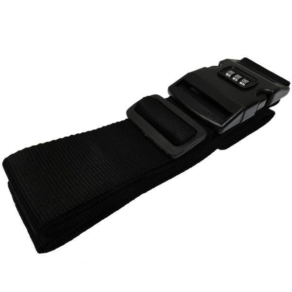 Luggage Strap w/ Lock Buckle, Black - 75""