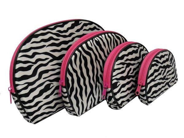 4 In 1 Cosmetic Bag, Zebra