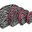 4 In 1 Cosmetic Bag, Zebra