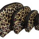 4 In 1 Cosmetic Bag,Leopard
