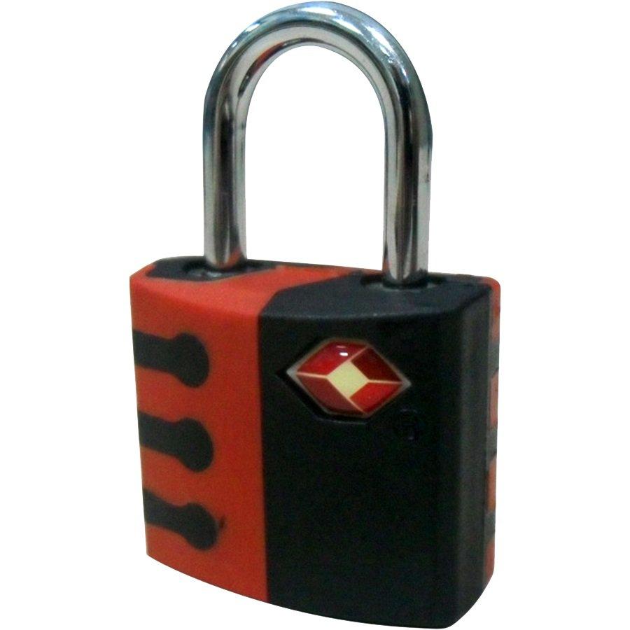 TSA Pad Lock, Black/ Red