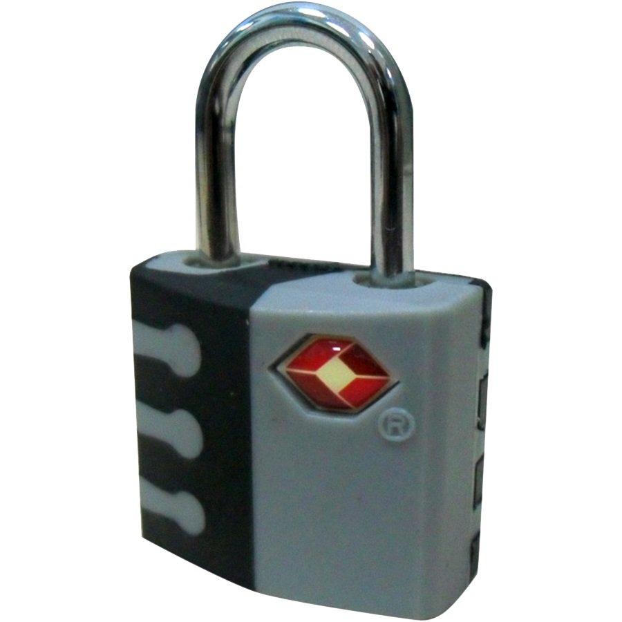 TSA Pad Lock, Black & Light Gray