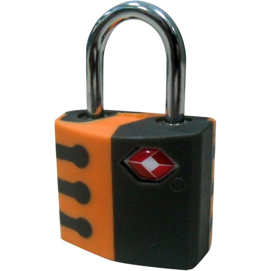 TSA Pad Lock, Orange & Black