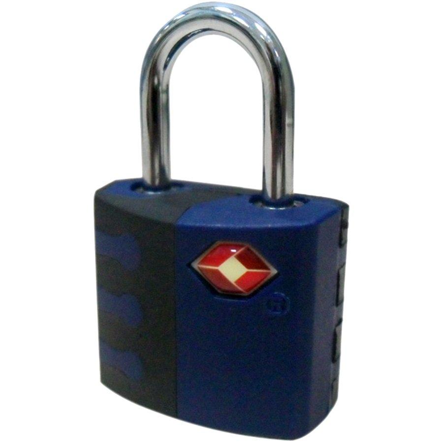 TSA Pad Lock, Blue & Black