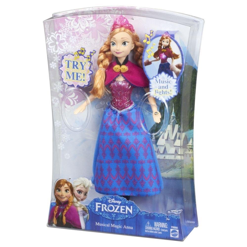 "Disney Frozen Anna Doll 12"" Musical Magic w/FREE Olaf Talking Plush"