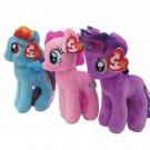 My Little Pony Ty Beanie Babies (SET OF THREE) (w/FREE NEON PONY BLIND BAG!)