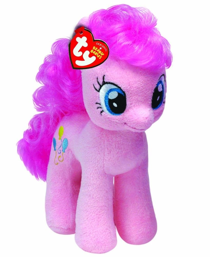 My Little Pony Ty Beanie Baby Pinkie Pie w/FREE NEON PONY BLIND BAG!