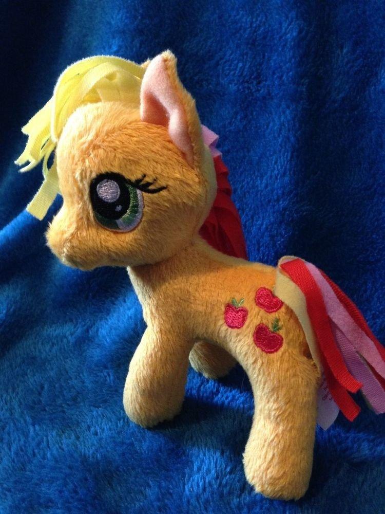 "My Little Pony Funrise Plush Applejack (Rainbowfied) 5"" w/FREE PONY BLIND BAG"