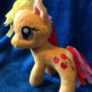 "My Little Pony Funrise Plush Applejack (Rainbowfied) 5"" w/FREE PONY BLIND BAG"