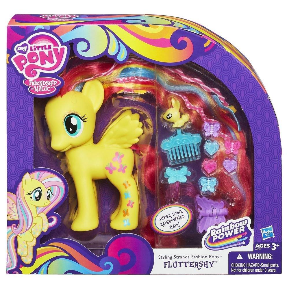 My Little Pony Fluttershy Styling Strands Fashion Pony w/FREE PONY BLIND BAG
