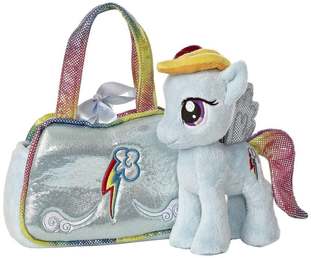 My Little Pony Aurora Plush Rainbow Dash Cutie Mark Carrier w/FREE PONY BLINDBAG