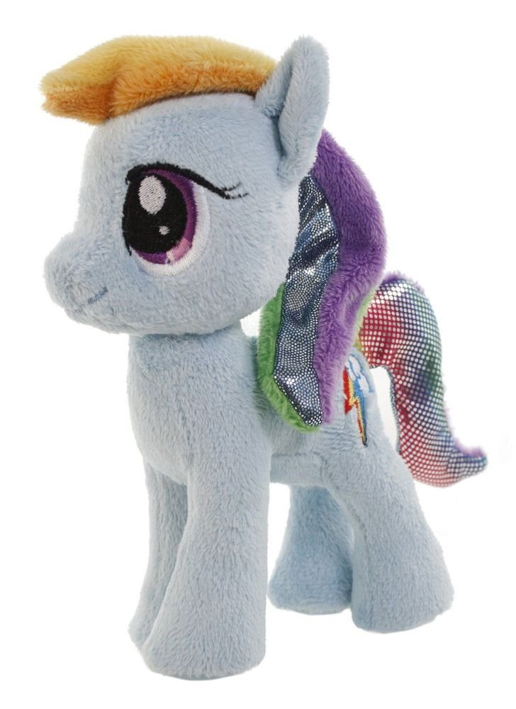 "My Little Pony Aurora Plush Rainbow Dash 6.5"" w/FREE PONY BLIND BAG"