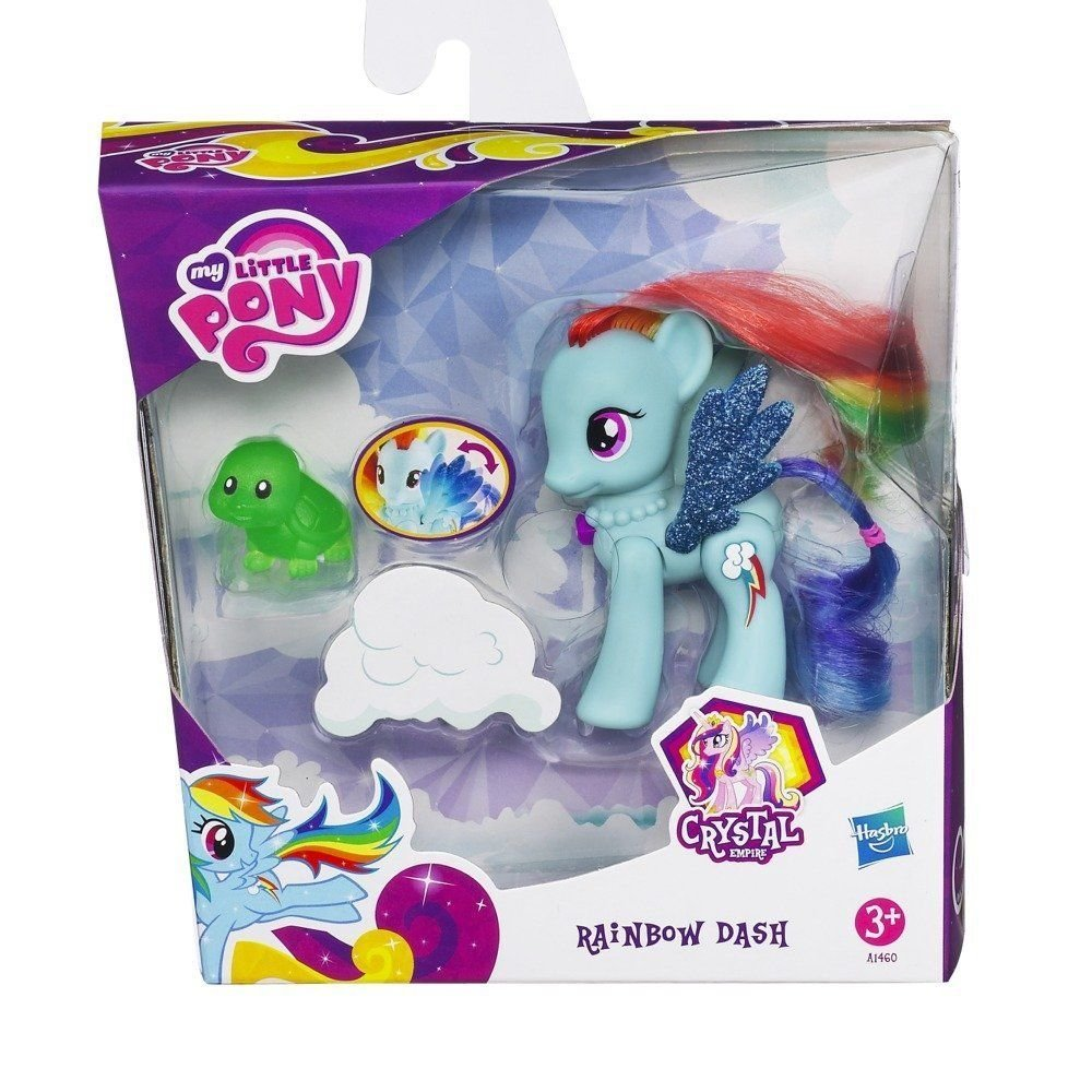 My Little Pony Crystal Motion Rainbow Dash w/FREE PONY BLIND BAG