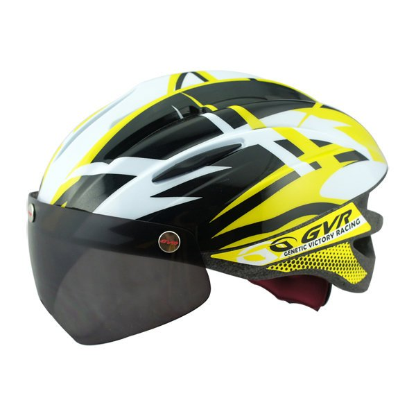 GVR Cycling Helmet G-203V With Magnetic Visor Jump - Yellow  Free Shipping !