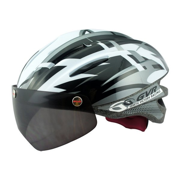 GVR Cycling Helmet G-203V With Magnetic Visor Jump - Grey Silver  Free Shipping !