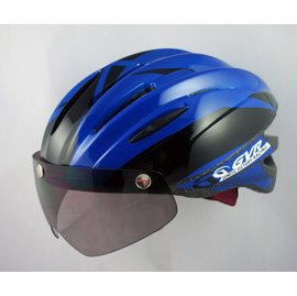 GVR Cycling Helmet G-203V With Magnetic Visor illusion - Blue  Free Shipping !