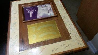 nasa defense support program framed signed picture