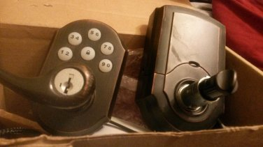 Kwikset 911 some scratches  bronze lock nickle cylinder Smartcode Electronic Lever With Smartkey