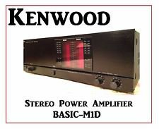Kenwood Basic M1D  Stereo Power Amplifier (1987-90)some dent some scatches