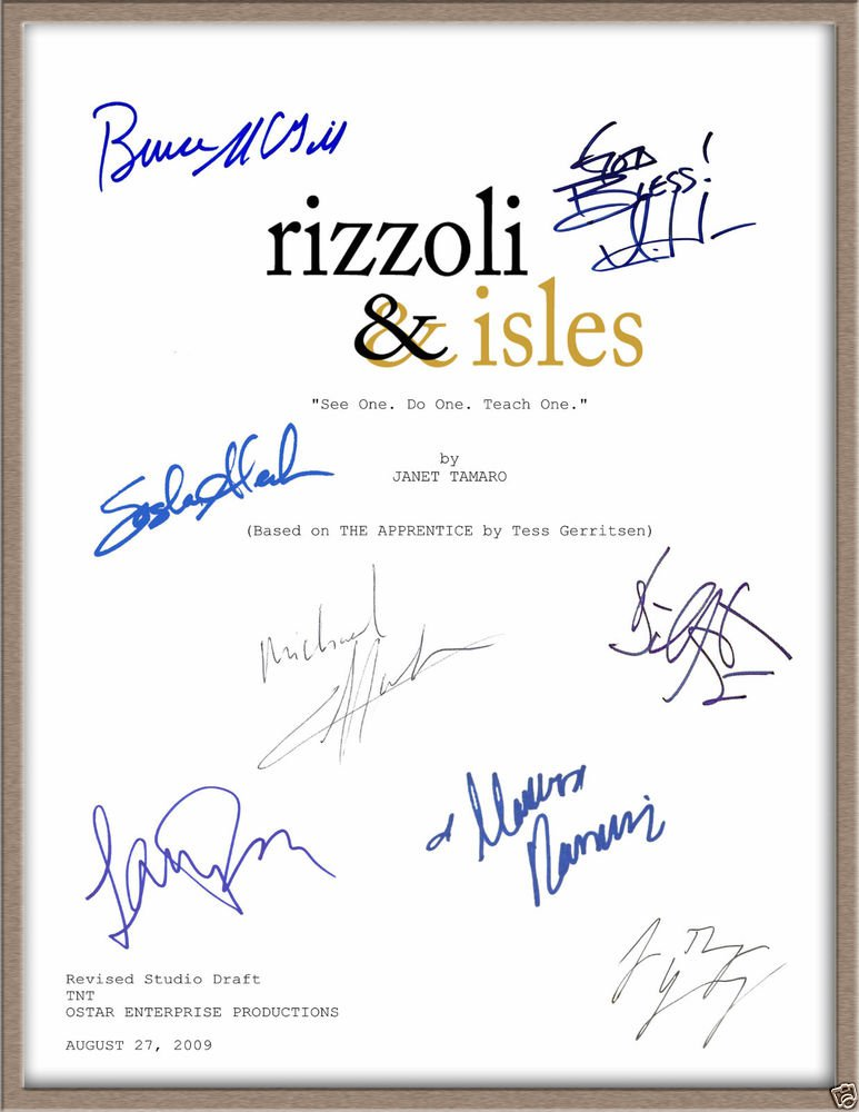 ANGIE HARMON LEE THOMPSON YOUNG SIGNED X8 RIZZOLI & ISLES TV SCRIPT RPT + BONUS!