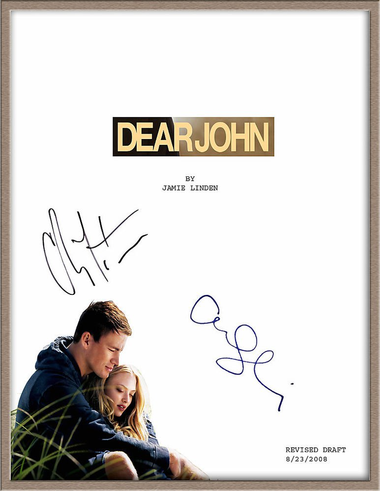 "CHANNING TATUM & AMANDA SEYFRIED SIGNED ""DEAR JOHN"" MOVIE SCRIPT RPT *FREE SHIP*"