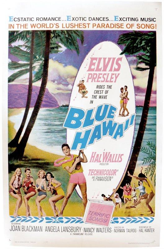 "ELVIS PRESLEY ANGELA LANSBURY SIGNED X2 ""BLUE HAWAII"" MOVIE MUSICAL SCRIPT RPT"
