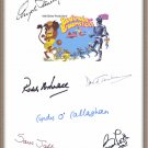 "ANGELA LANSBURY SIGNED X6 DISNEY'S ""BEDKNOBS AND BROOMSTICKS"" MOVIE SCRIPT RPT"