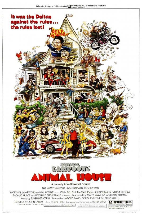 "JOHN BELUSHI KEVIN BACON JOHN LANDIS SIGNED X9 ""ANIMAL HOUSE"" MOVIE SCRIPT RPT"