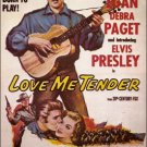 "ELVIS PRESLEY DEBRA PAGET RICHARD EGAN SIGNED X5 ""LOVE ME TENDER"" FILM SCRIPT RP"