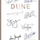 DAVID LYNCH PATRICK STEWART SEAN YOUNG VIRGINIA MADSEN SIGNED X8 DUNE SCRIPT RPT