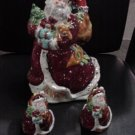 Santa Cookie Jar and salt&pepper shakers